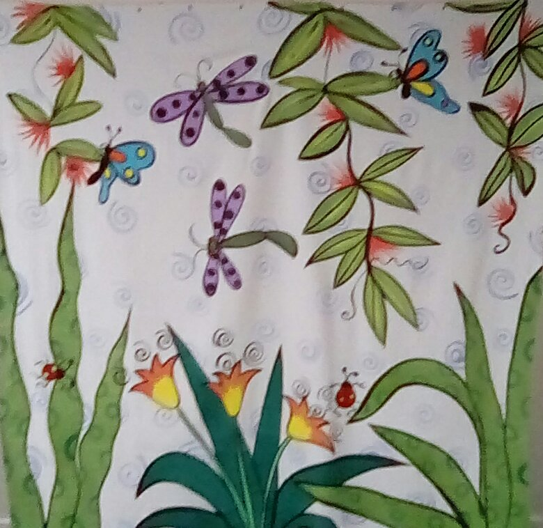 Rebecca's Garden shower curtain
