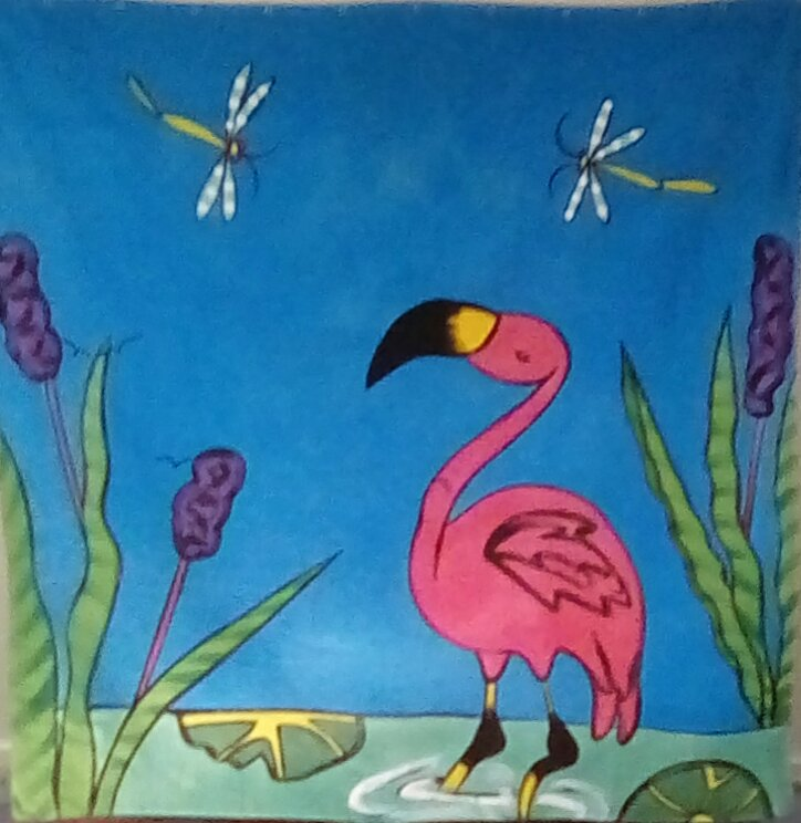 Flamingo #2 shower curtain