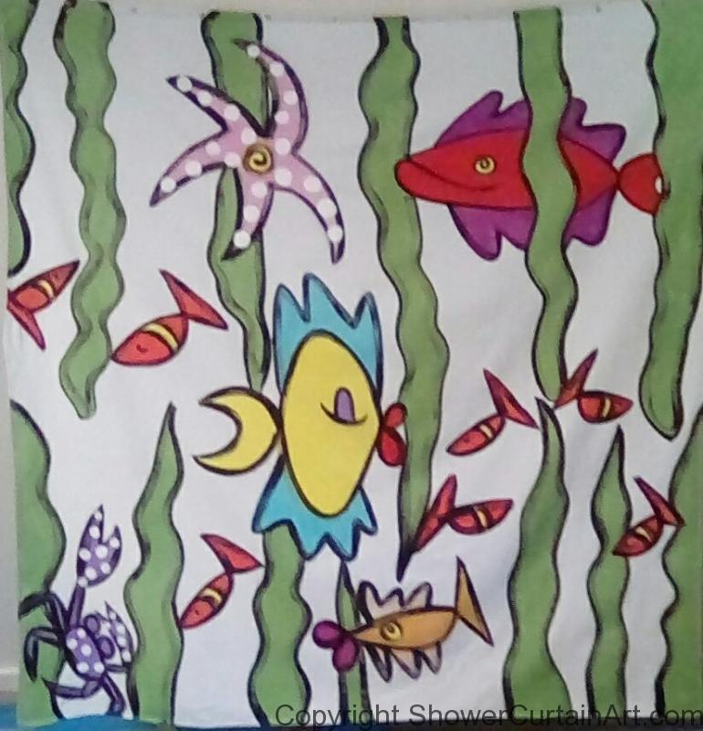 Fish Scene shower curtain